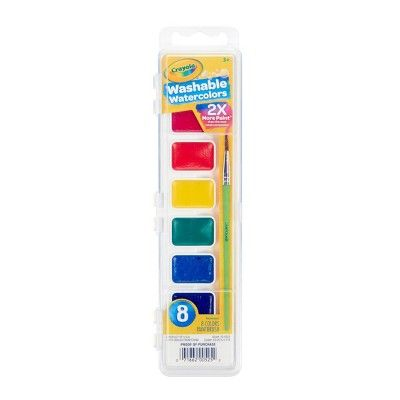 Crayola 8ct Watercolor Paints With Brush Paint Set Watercolour Painting Crayola
