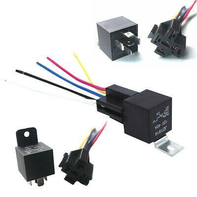Ad Ebay With Socket Black 5 Pcs Automotive Relay 12v 5pin 40a With Terminal Auto Relay Relay Ebay Sockets