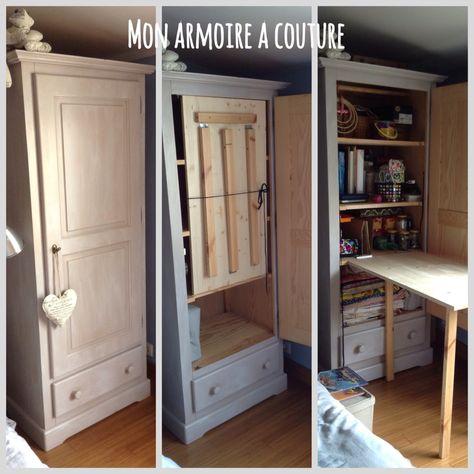 Armoire Réorganisée En Petit Atelier Couture Et Bricolage Diy