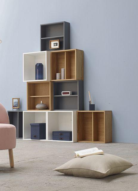 Brick Est Une Gamme Composee D Elements De Rangement Qui Joue La Carte De La Modularite Grace Decoration Interieur Salon Mobilier De Salon Bibliotheque Grise