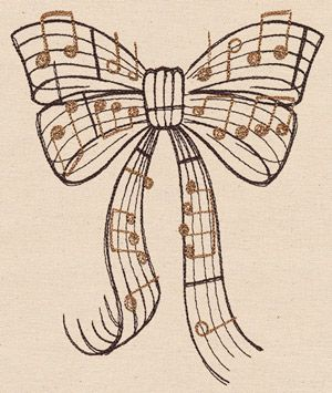Beautiful Music - Bow | Urban Threads: Unique and Awesome Embroidery Designs