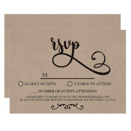 Rsvp Wedding Cards Rustic Script Elegant Invites Script Gifts Template Templates Diy Customize Personali Rsvp Wedding Cards Wedding Cards Elegant Invitations