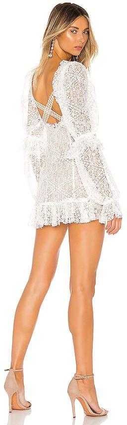 For Love & Lemons Sequoia Lace Mini Dress
