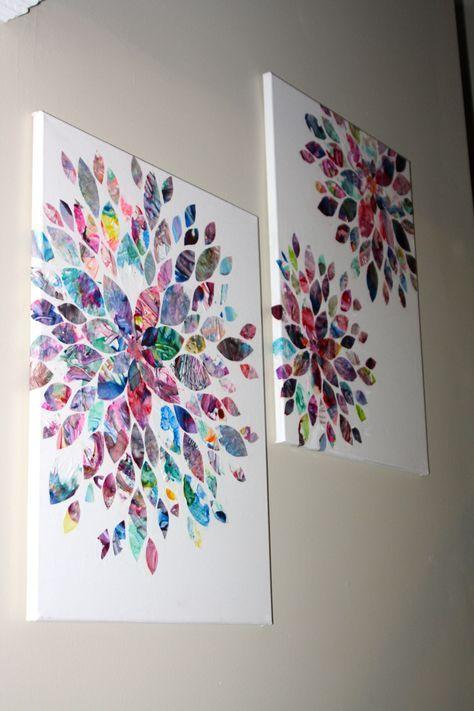 Trendy House Art Work Kids Artwork Ideas Toddler Canvas Art Toddler Art Art Projects