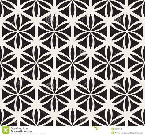 Vector Seamless Black And White Flower Of Life Sacred Geometry Geometric Mandala Tattoo Geometric Sleeve Tattoo Geometric Tattoo Design