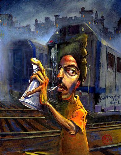 c43da97ae09 Afrika Bambaataa - 20x20 giclee on canvas - Justin Bua