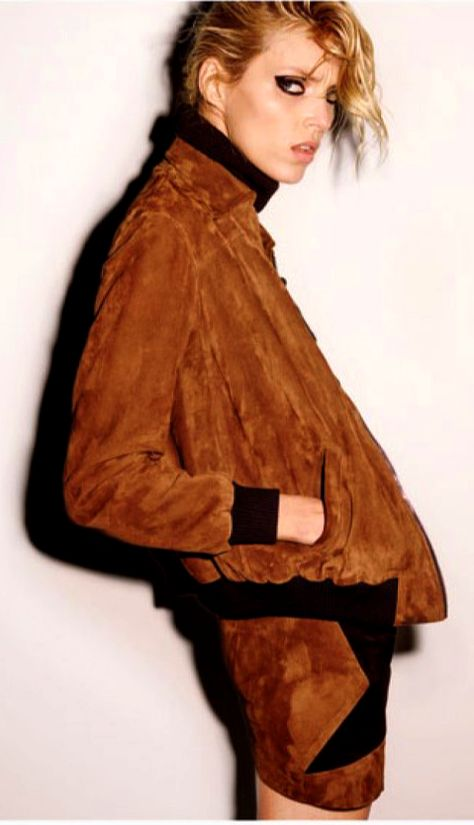 Anja Rubik in a New Take on Vintage for Self Service FW16