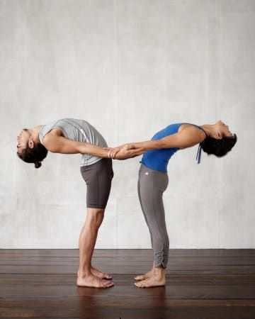 5 Fun Partner Yoga Poses To Build Trust And Communication Couples Yoga Poses Yoga Poses For Two Cool Yoga Poses