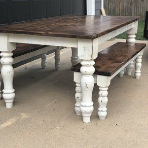 Curvy Chunky Farmhouse Dining Table Legs 5 X 5 X 29 Set Of 4 Unfinished Wood Legs Maple Legs Made In Nc Dining Table Legs Dining Table Table Legs
