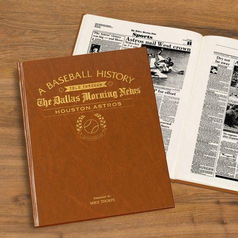Personalised American Baseball Newspaper Book - New York Yankees Newspaper Book