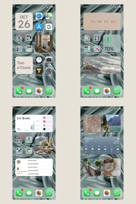 Iphone App Layout, Iphone App Design, Organize Phone Apps, Whats On My Iphone, Iphone Wallpaper Ios, Iphone Hacks, Homescreen, Cute Wallpapers, Phone Organization