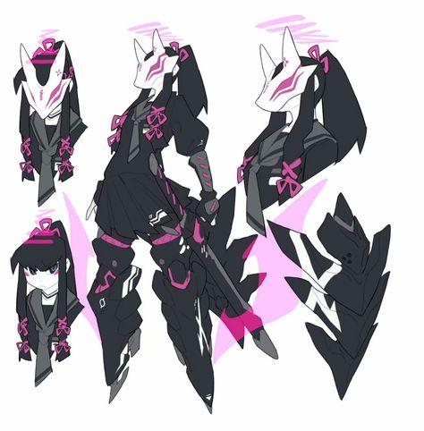 Female Character Design, Character Creation, Character Design Inspiration, Character Concept, Character Art, Robot Concept Art, Robot Art, Art Et Illustration, Cyberpunk Art