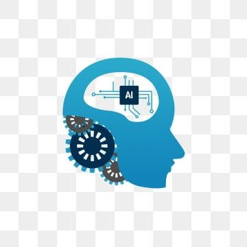 Artificial Intelligence Blue Technology Mechanical Gear Ai Brain Commercial Material Png And Psd Geometry Triangles Technology Background Creative Photo Frames