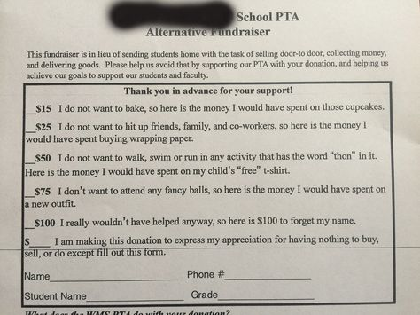 hilariously honest PTA form for those who donu0027t reaaaally want to - best of sample letter requesting donations for school fundraiser