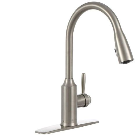 Glacier Bay Invee Single Handle Pull Down Sprayer Kitchen Faucet