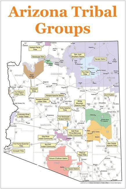 Tribal Groups of Arizona Map | Brothers of spirits | Native american ...