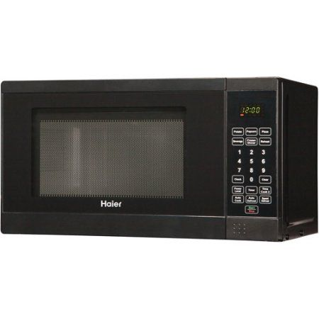 Haier 18 0 7 Cu Ft Countertop Microwave Black Oven And