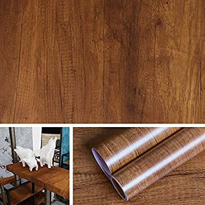 Livelynine Peel And Stick Wallpaper Wood Contact Paper Waterproof Removable Wall Paper Decorations Kitchen Cabi Wood Grain Wallpaper Wood Wallpaper Shelf Liner