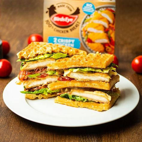 This triple stacked Birds Eye chicken sweet waffle club sandwich is the perfect sweet and savoury option you have been looking for 😍🥪🍗