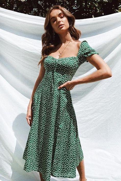 Sayna Floral Midi Dress