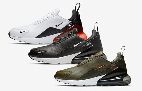Nike Air Max 270 Premium Leather Black (BQ6171 001), White
