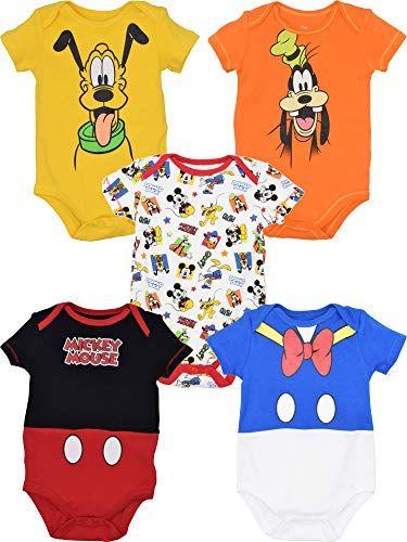 Walt Disney World Size Baby Newborn Mickey Mouse Halloween Pumpkin Bodysuit