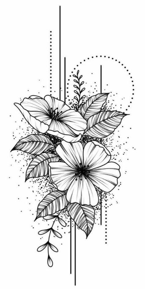 Dibujos crear tatuaje #flowertattoos