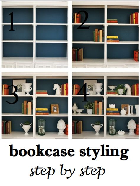DIY:: Amazing Bookcase Styling Step by Step Tutorial by @Emily Schoenfeld A. Clark