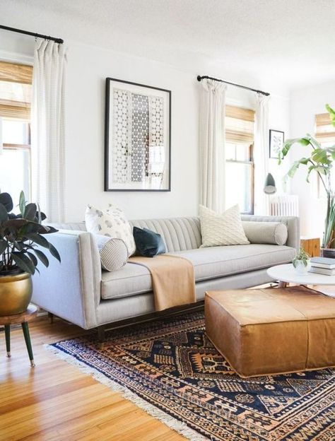 The best living room color schemes 00037 Mid Century Modern Living Room, Living Room Modern, Rugs In Living Room, Living Room Designs, How To Furnish Living Room, Mid Century Modern Furniture, Modern Living Room Curtains, Colorful Living Rooms, Room And Board Living Room