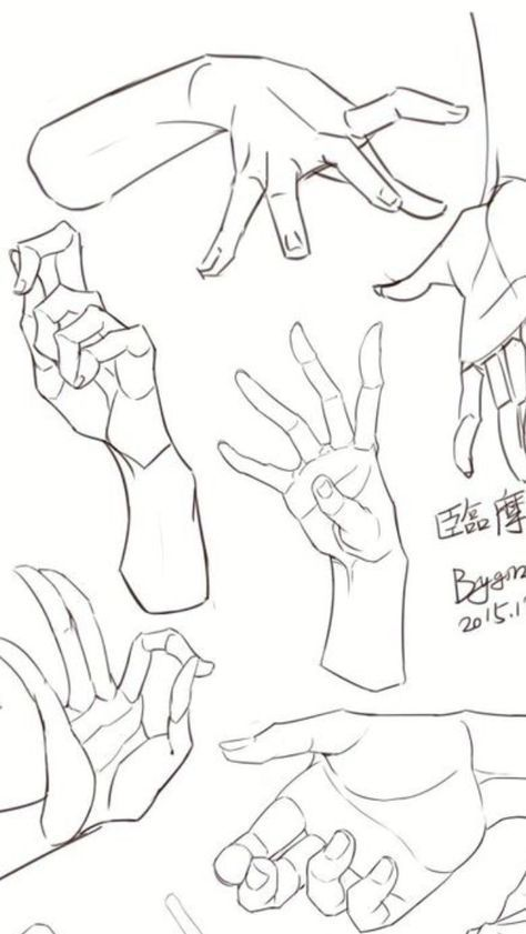 Right Hand Reference Drawings In 2020 Hand Drawing Reference Drawing Reference Art Reference