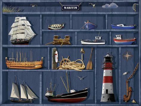 Mausopardia Der Maritime Setzkasten Leinwandbild Glasbilder
