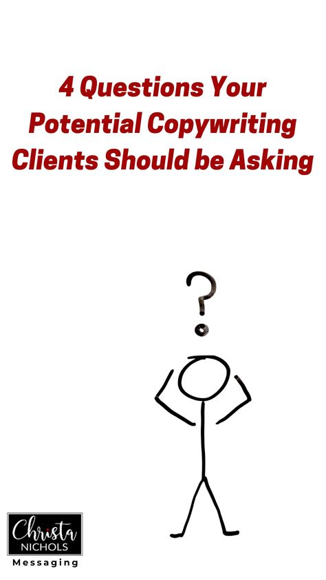 4 Interview Questions Your Potential Copywriting Clients Should be Asking You!