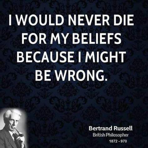 Bertrand Russell Thinkers Think Und Zitate