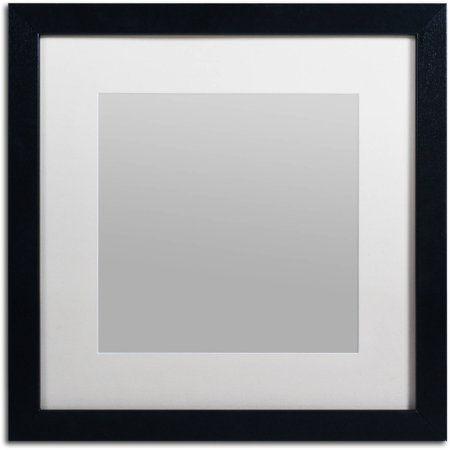 Trademark Fine Art Heavy Duty 16x16 Black Picture Frame With 11x11 White Mat Walmart Com In 2021 Black Picture Frames Black Picture Metal Picture Frames