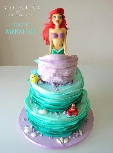 The Little Mermaid cake (torta La Sirenetta) -  #cake #little #mermaid #sirenetta #torta