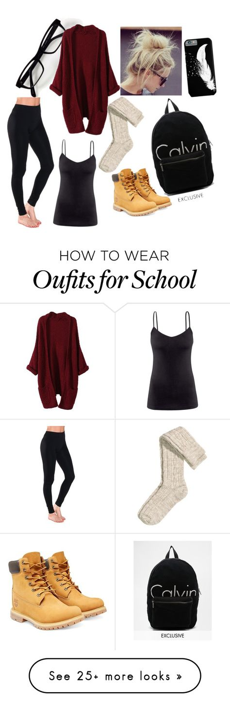"""""""School"""" by itsmadisonsmith on Polyvore featuring H&M, Timberland and Calvin Klein"""