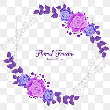Gambar Bingkai Bunga Geometris Mewah Mawar Ungu Latar Belakang Transparan Kemewahan Undangan Pernikahan Png Dan Vektor Dengan Latar Belakang Transparan Untuk Pola Bunga Bingkai Bunga Kartu Bunga