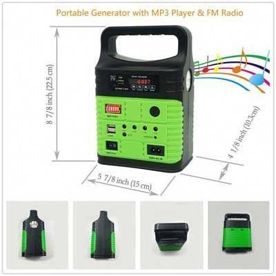 10 Watt Solar Generator Portable Kit By Wegner Solargenerator Portable Solar Generator Solar Generator Solar Panel System