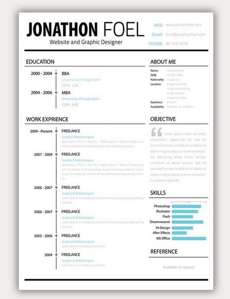 25 Modern resume template #business #LessStressMoreSuccess - pr resume template