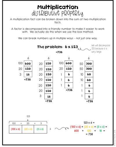 Strategies For Teaching Multi Digit Multiplication Multi Digit Multiplication Multiplication Self Esteem Worksheets Properties of numbers worksheets
