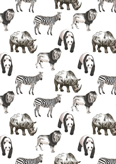 Hand illustrated pattern design by Dionne Kitching