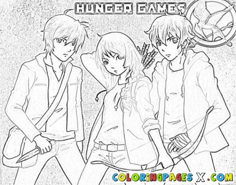 13 Hunger Games Coloring Pages Ideas Coloring Pages Hunger Games Colorful Pictures
