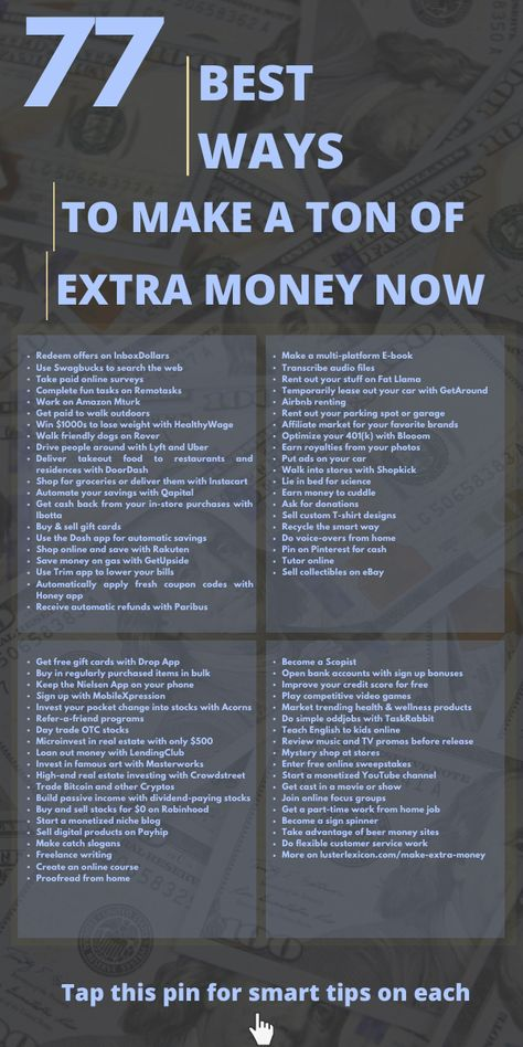 77 BEST WAYS TO MAKE A TON OF EXTRA MONEY NOW