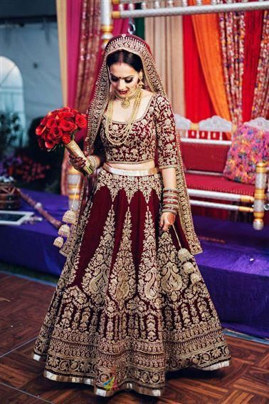 Latest Trendy Maroon Pure Velvet With Diamond Work Lehenga Choli For Canada Bridal Wedding Shopp In 2020 Indian Bridal Outfits Wedding Lehenga Designs Red Bridal Dress