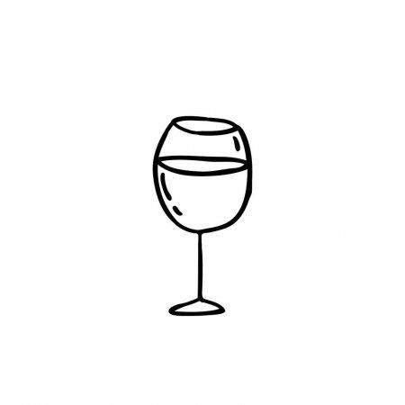 Glass Of Wine Doodle Icon Stock Vector Spon Doodle Wine