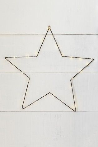 30 Led Lit Metal Star And Foliage Wreath Home Decor Wall Art Decorative Accessories Wall Decor