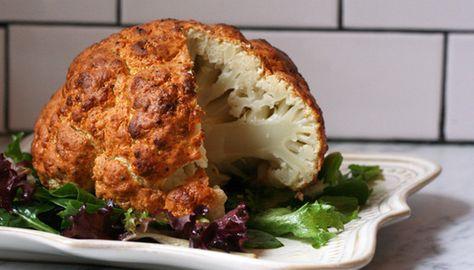Spicy Whole Roasted Cauliflow+ 6 more ways for cauliflower
