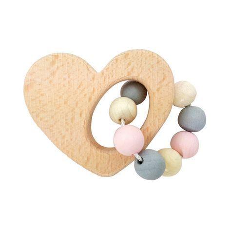 Rassel mit Perlen aus Holz