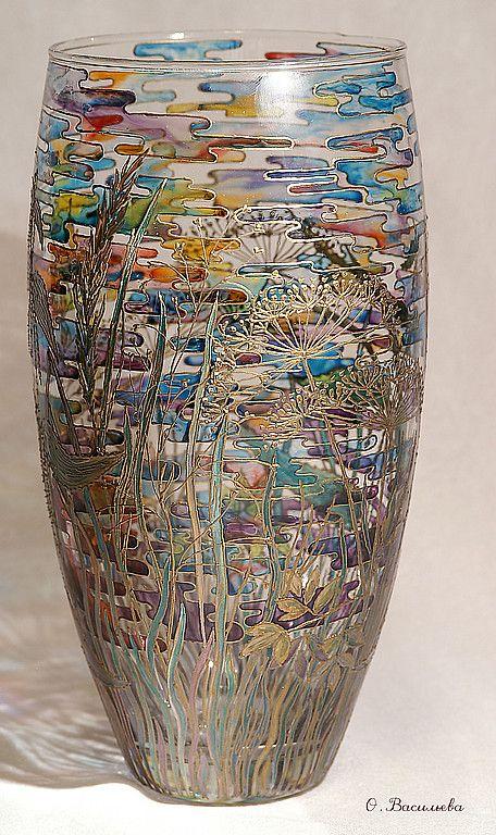 Dekoratif Vazo Boyama Vazolar Vitray Desenleri Sanatsal