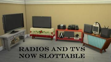 Mod The Sims More Slots Tv Slots For All Ea Hallway Tables Play Sims 4 Hallway Table Sims